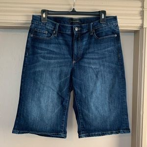 Banana Republic Indigo Denim Bermuda Shorts - 31